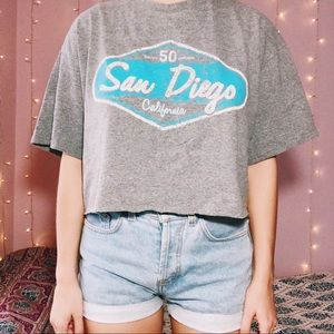 Retro San Diego cropped graphic shirt